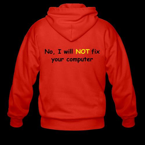 Will not fix your computer - Men's Premium Hooded Jacket