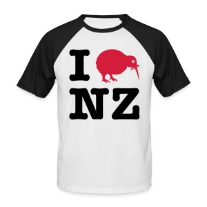 Men's I love NZ Shirt - Men's Baseball T-Shirt