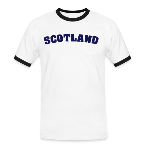 Men's Scotland The Brave Contrast T White - Men's Ringer Shirt