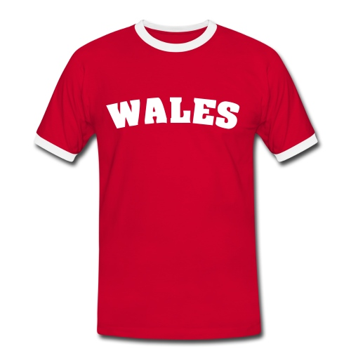 Men's Wales Contrast T Red - Men's Ringer Shirt