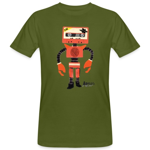 Orange Tape Robo - Mannen Bio-T-shirt