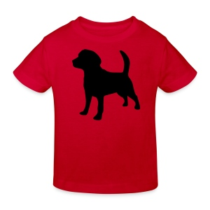 Kids T-shirt with dog - Kids' Organic T-shirt