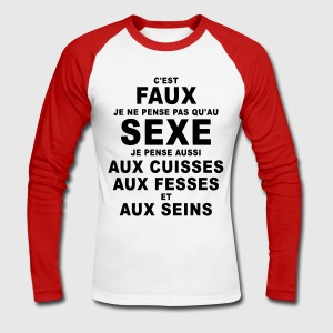 sexe humour Tee shirts manches longues - T-shirt baseball manches longues Homme