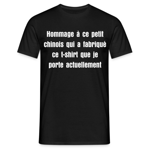 T-shirt petit chinois homme. - T-shirt Homme