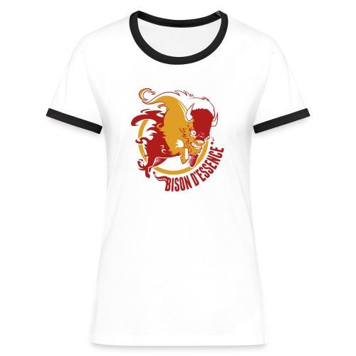 Bison D'essence  femme! - T-shirt contrasté Femme