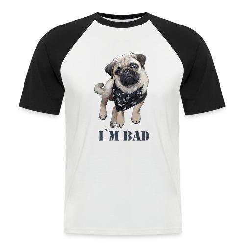 Mops Bad Baseballshirt - Männer Baseball-T-Shirt