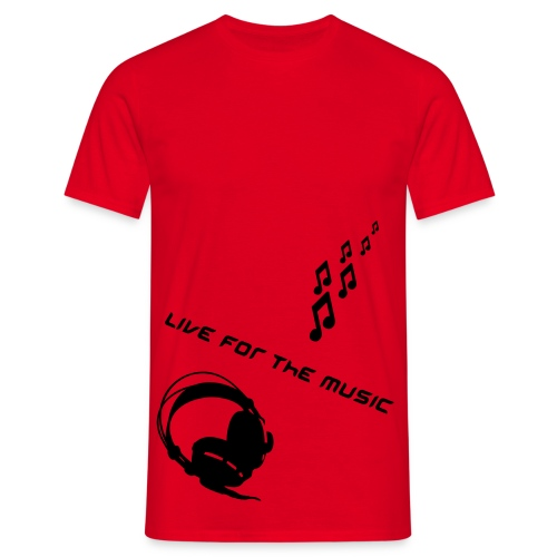 Red Live For The Music Mens T-Shirt - Men's T-Shirt