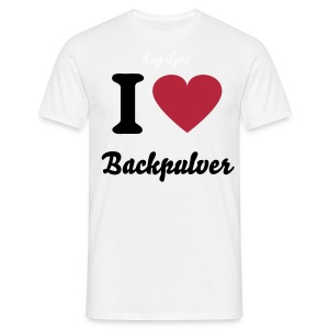 I Love Backpulver - Männer T-Shirt