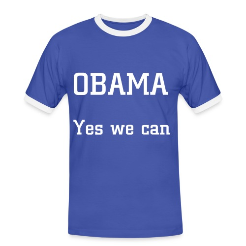 Obama Yes we can - T-shirt contrasté Homme