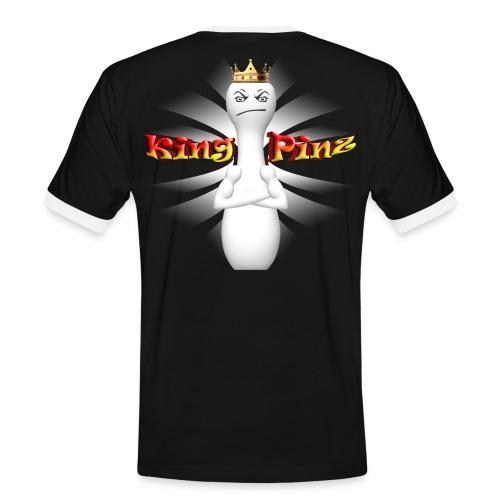 King Pinz Kegelshirt - Männer Kontrast-T-Shirt