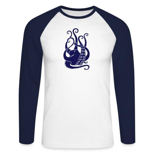 tier t-shirt oktopus krake tintenfisch tauchen taucher meer octopus scuba - Männer Baseballshirt langarm