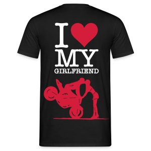 I LOVE MY GIRLFRIEND III - Männer T-Shirt