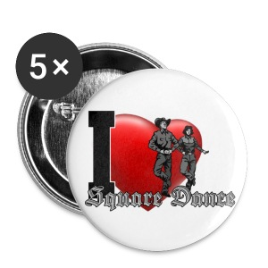 Button I love Square Dance - Buttons mittel 32 mm