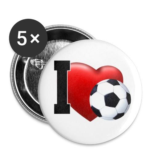 Button  I love Fussball - Buttons mittel 32 mm
