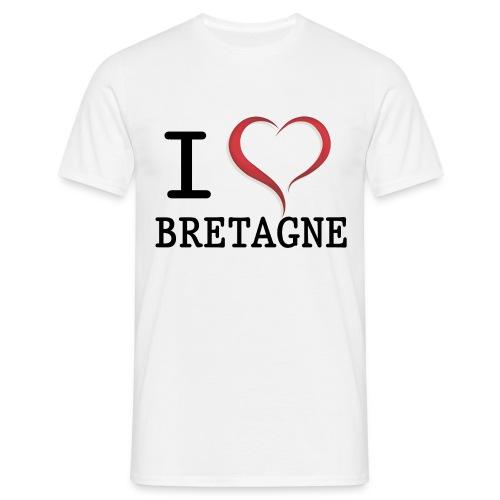 Tee shirt i love bretagne classique Homme - T-shirt Homme
