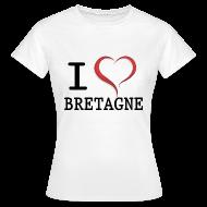 Tee shirts ~ Tee shirt Femme ~ Tee shirt i love bretagne classique Femme