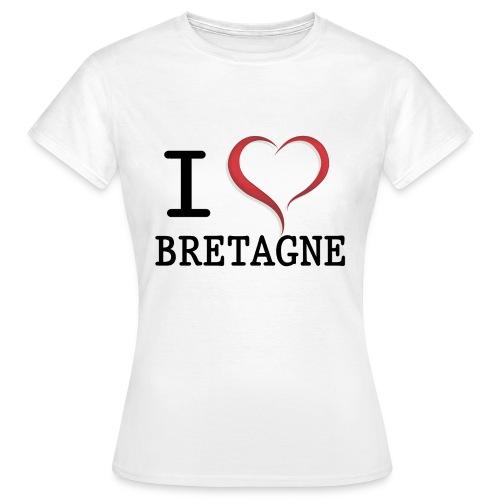 Tee shirt i love bretagne classique Femme - T-shirt Femme