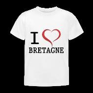 Tee shirts ~ Tee shirt Enfant ~ Tee shirt i love bretagne classique Enfant