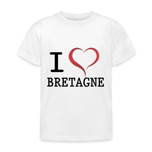 Tee shirt i love bretagne classique Enfant - T-shirt Enfant