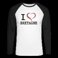 Manches longues ~ Tee shirt baseball manches longues Homme ~ Tee shirt i love bretagne
