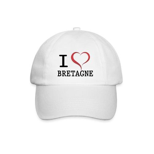 Casquette i love bretagne - Casquette classique
