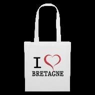 Sacs et sacs à dos ~ Tote Bag ~ Sac en tissu i love bretagne
