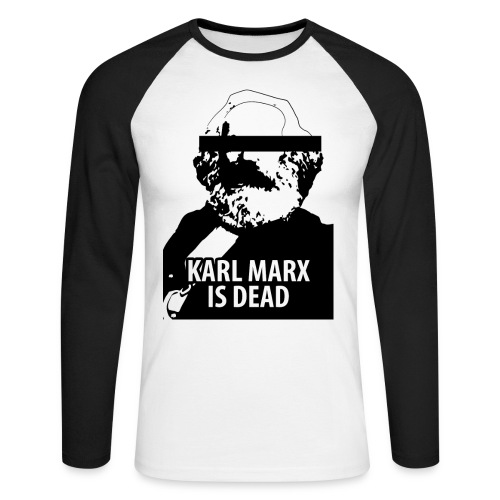 Karl Marx is dead - T-shirt baseball manches longues Homme