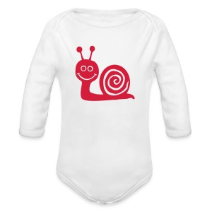 Arsher - Red Escargot - Body bébé bio manches longues