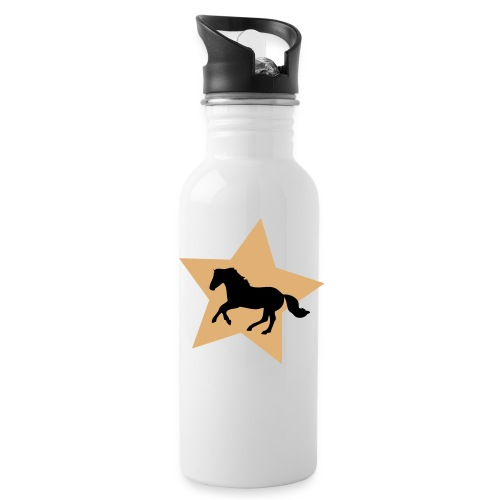 Gold Star Horse Water Bottle - made for winners :) - Water Bottle