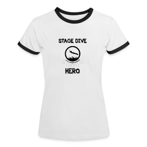 Retro-Shirt - Stage Dive Hero (weiblich) - Frauen Kontrast-T-Shirt