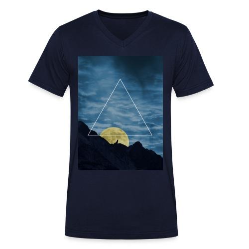 T-Shirt mit Aufschrift - Männer Bio-T-Shirt mit V-Ausschnitt von Stanley & Stella