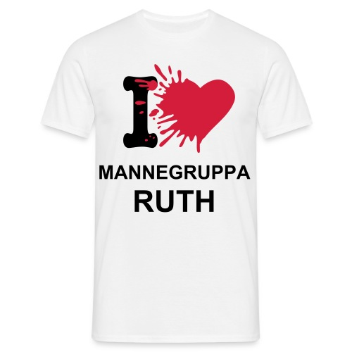 I LOVE MANNEGRUPPA RUTH 2 - T-skjorte for menn