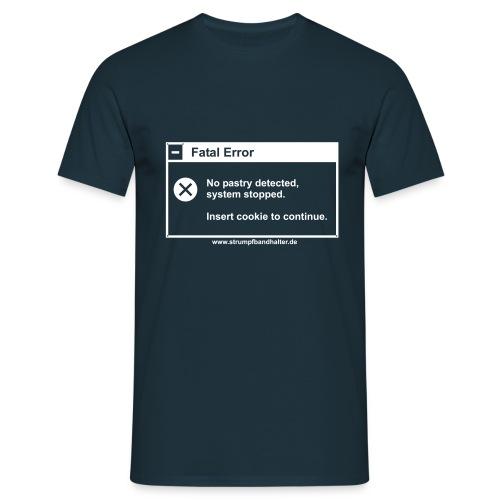 T-Shirt Insert Cookie - weisser Aufdruck - Männer T-Shirt