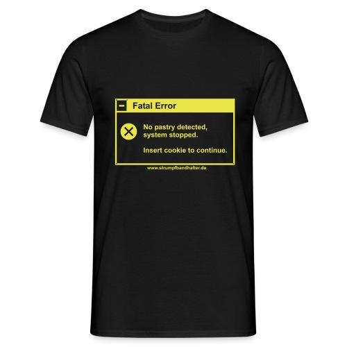 T-Shirt Insert Cookie - gelber Aufdruck - Männer T-Shirt