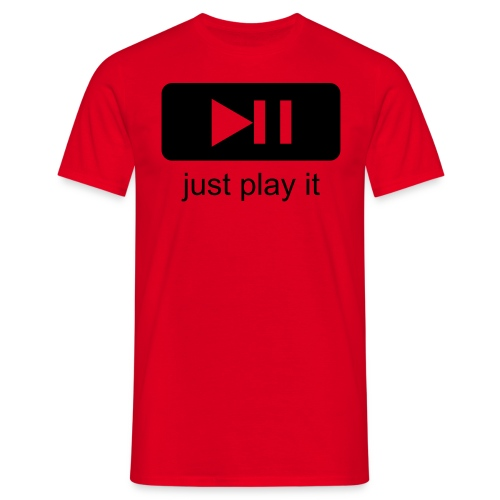 Just play it - T-shirt herr