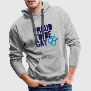 Proud to be gay Sweaters - Mannen Premium hoodie