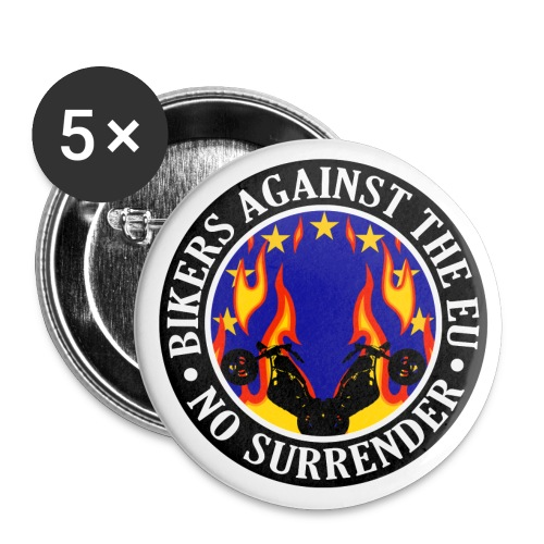 Anti EU Bikers Against The EU 001 - Buttons large 2.2''/56 mm (5-pack)