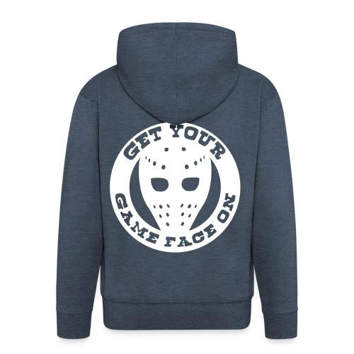 get ur game face on. - Men's Premium Hooded Jacket