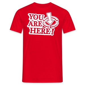 BBB You are here (m) - Men's T-Shirt