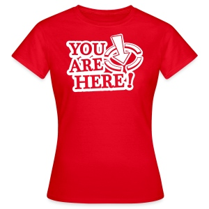 BBB You are here (w) - Women's T-Shirt