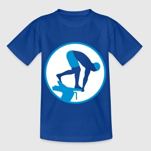 swimming_man_022013_b_2c T-Shirts - Teenager T-Shirt