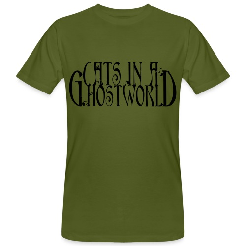 Cats in a Ghost World - Normal Cut - Männer Bio-T-Shirt