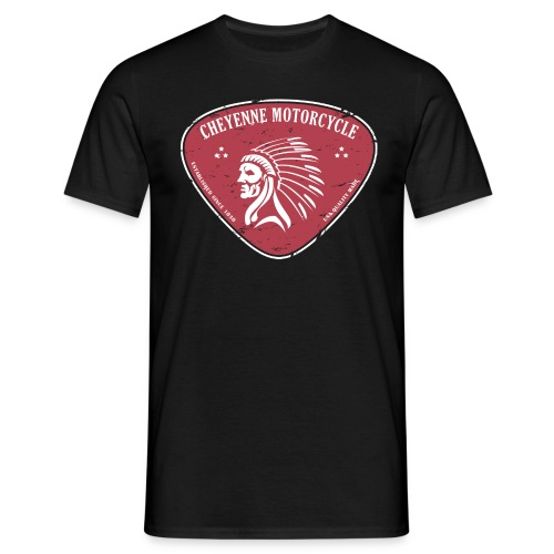 Cheyenne motorcycle 1 - noir - T-shirt Homme