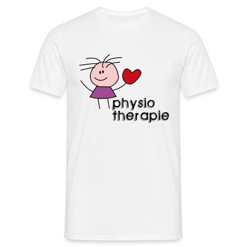 Ein Herz für Physiotherapie T-Shirt - Männer T-Shirt