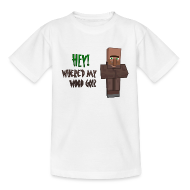 Shirts ~ Teenage T-shirt ~ Where'd my wood go!?  Teens shirt
