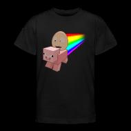 Shirts ~ Teenage T-shirt ~ Nyan Pig - Teens T-Shirt