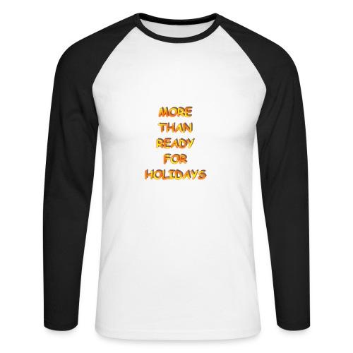 t-shirt baseball ml holydays - T-shirt baseball manches longues Homme