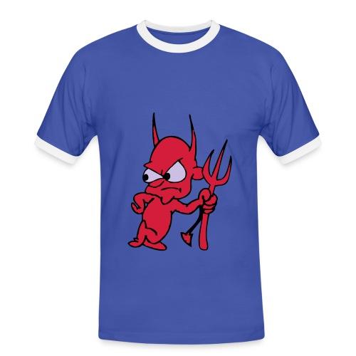 T-shirt Diablo - Koszulka męska z kontrastowymi wstawkami