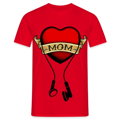 MOM headphones - Herre-T-shirt