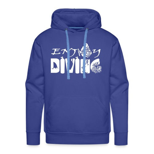 Enjoy Diving-Sweat Hom-Flocage - Sweat-shirt à capuche Premium pour hommes